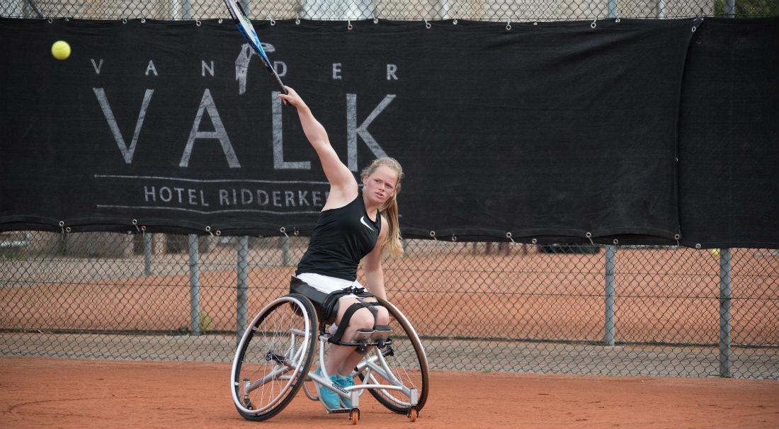 Donna Jansen rolstoeltennis