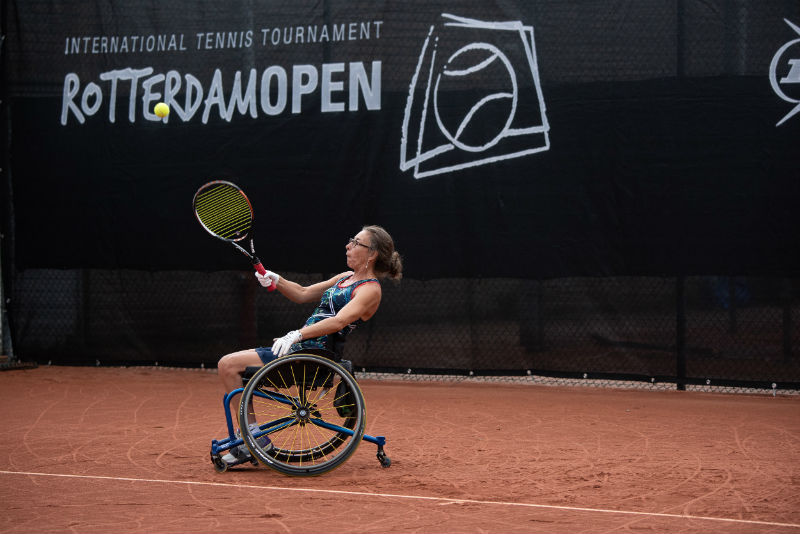 Donderdag 23 augustus wheelchair tennis