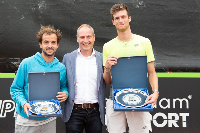 Runner up Nik Razborsek, Raymond Schot and Rotterdam Open 2018 winner Manuel Guinard